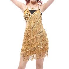 Женщины Одежда для танцев Спандекс Латино Платья (115121816)