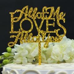 Сладкая любовь/Г-н & Mrs акрил Фигурки для торта (119156986)