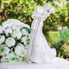 статуэтка целовать пар полиэстер/Чешская Камни Свадьба Фигурки для торта (119064658)