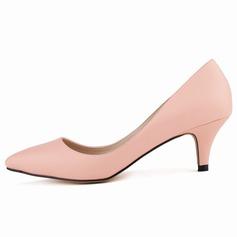 Donna Similpelle Tacchi a cono Stiletto Punta chiusa scarpe (085113500)