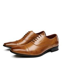 Мужская натуральня кожа Cap Toes шнуровка вскользь Платья Men's Oxfords (259209732)