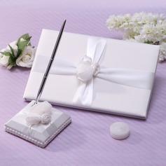 Simples Cintos/Rosa Livro de visitas & conjunto de canetas (101037360)