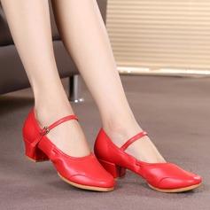 Женщины кожа Танцевальные кроссовки Обувь для Персонала Обувь для танцев (053104790)