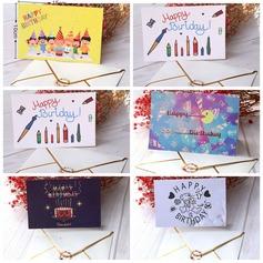 цветочный Стиль Боковой складкой поздравительные открытки/Спасибо карты (набор из 6) (114205151)