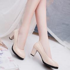 Женщины кожа Высокий тонкий каблук На каблуках (047108603)