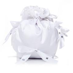 Schön Satin mit Des Bowknot/Nachahmungen von Perlen Braut Geld-Beutel (012029671)