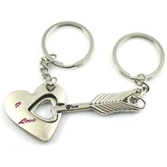 Cupid's Arrow Zinc alloy Keychains (set of 4 pairs) (120037762)