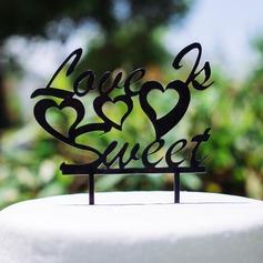 de liefde is zoet Acryl Huwelijk Taarttoppers (119064655)