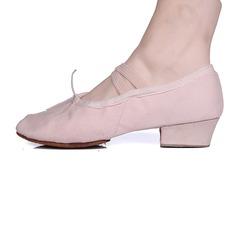 Женщины ткань На каблуках Балет с бантом Обувь для танцев (053103666)