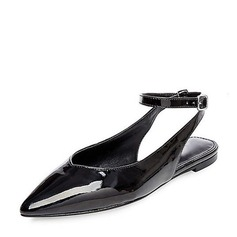 Women's Patent Leather Flat Heel Sandals Flats Closed Toe Slingbacks With Others shoes (087142853)