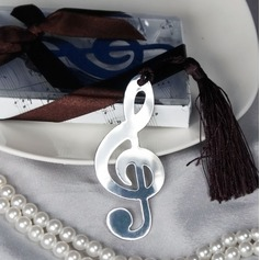 Treble Clef Stainless Steel Bookmarks With Ribbons/Tassel (051008923)
