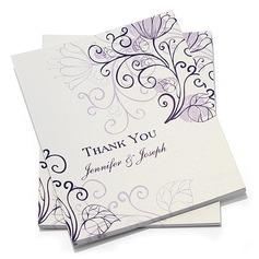 Персонализированные цветочный Стиль Спасибо карты (набор из 10) (114054972)
