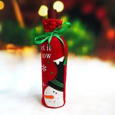 Christmas Day Red Wine Bottle Holder Favor Bag (Sold in a single piece) Gifts (129148788)