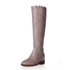 Keinonahasta Matalakorkoiset Heel Knee saappaat kengät (088062148)