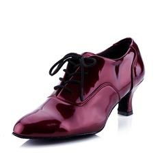 Mulheres Couro Saltos Moderno Salão de Baile com Aplicação de renda Sapatos de dança (053041590)