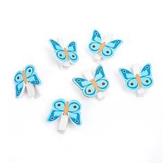 бабочка Деревянный клипсы (набор из 6) (051072235)