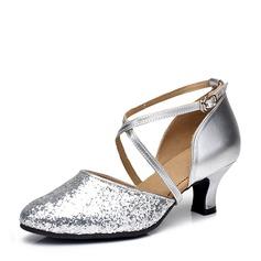 Mulheres Espumante Glitter Saltos Salão de Baile Sapatos de dança (053143459)