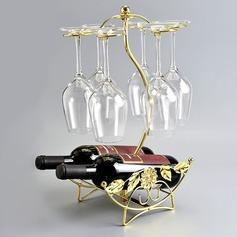 Vintage clássico ferro Cremalheira do vinho (203199465)