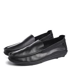 Мужская натуральня кожа U-Tip вскользь Men's Loafers (260187146)