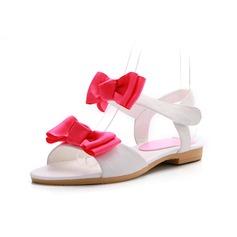 Äkta läder Flat Heel Sandaler Slingbacks med Fören skor (087049387)