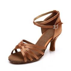 Femmes Satiné Sandales Latin avec Lanière de cheville Chaussures de danse (053063268)