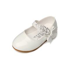 девичий Закрытый мыс дерматин Плоский каблук На плокой подошве Обувь для девочек с бантом (207095533)