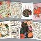 Estilo Moderno/Estilo Florais Lado Cartões de Aniversário/Obrigado cartões/Saudação Cartões (114205167)