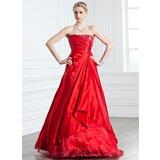 A-linjainen/Prinsessa Olkaimeton Lattiaa hipova pituus Tafti Quinceanera mekko jossa Rypytys Helmikuvoinnit (021005238)