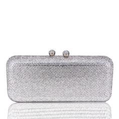 Elegante Cristal / Diamante Bolso Claqué/Minaudiere (012204116)
