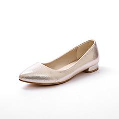 De mujer Tela Tacón plano Planos Cerrados zapatos (086094934)