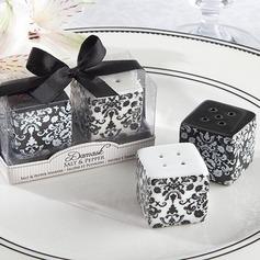 Diseño Floral Cerámico Sal y Pimienta Shakers (Juego de 2 piezas) (051051217)