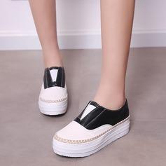 De mujer Cuero Tipo de tacón Cerrados Cuñas con Cadena Otros zapatos (086119380)