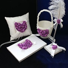 Lila Rosa Corazón Diseñado Set de colección en Satén (100017969)